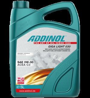 Addinol Motoröl 0w30 Giga Light 030 / 5 Liter