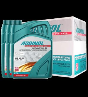 Addinol Motoröl 0w30 Premium 030 C2 / 3 x 5 Liter